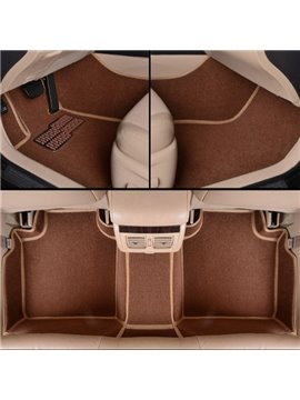Classic Coffee Solid Style Design Waterproof And Anti-Dust Custom Fit Car Floor Mats