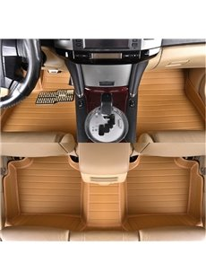 Popular Anti-Skid Waterproof Fashion Bright Color Design PVC Leather Dedicated Car Carpet