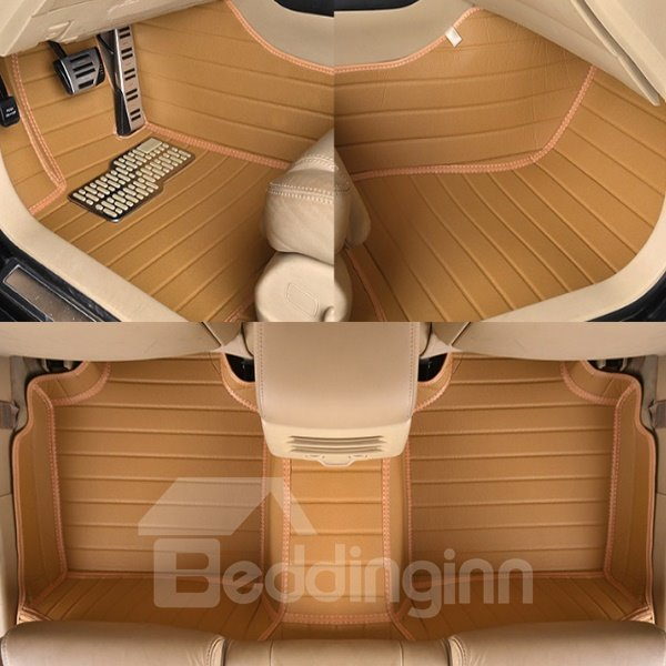 Anti-Skidding Waterproof Fashion Bright Color Design PVC Leather Custom Car Floor Mats
