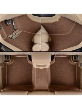 Stylish Brown Unique Edge Design All Surround Custom Fit Car Floor Mats