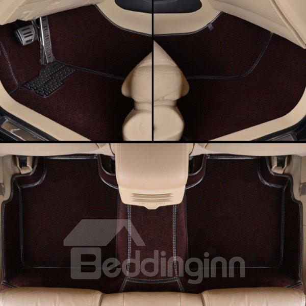 Sleek Attractive Design High Grade PVC Leather Mixed with Velvet Custom Fit Car Floor Mats
