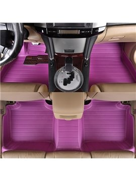 Purple Anti-Dust And Waterproof Durable PVC Leather Material Custom-Made Car Carpet