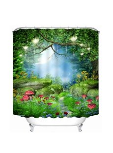Wonderful Deep Forest Scenery Printing Bathroom 3D Shower Curtain