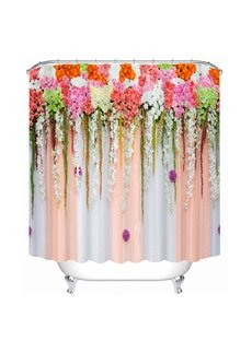 The Flower Wall Printing Bathroom 3D Shower Curtain