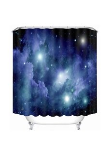 Brilliant Night Sky Printing Galaxy Theme Bathroom 3D Shower Curtain