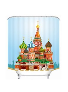 The Castle in the Fairy Tale Printing Bathroom 3D Shower Curtain