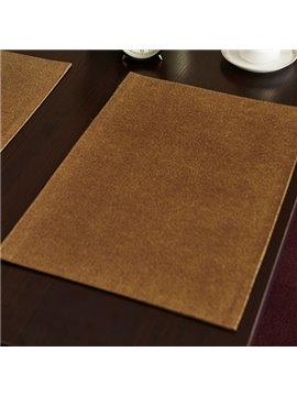 Classical Fabric Pure Color Stain Resistant Washable Dining Room Decorative Table Placemat