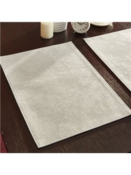 Pure Color Modern European Style Stain Resistant Washable Decorative Table Placemat