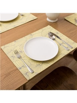 Comtemporary Fabric Rectangle Flower Pattern Home Decorative Heat Insulation Table Placemat