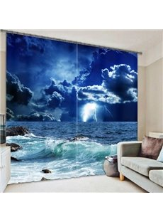 Dark Sea before the Storm Printing 3D Curtain