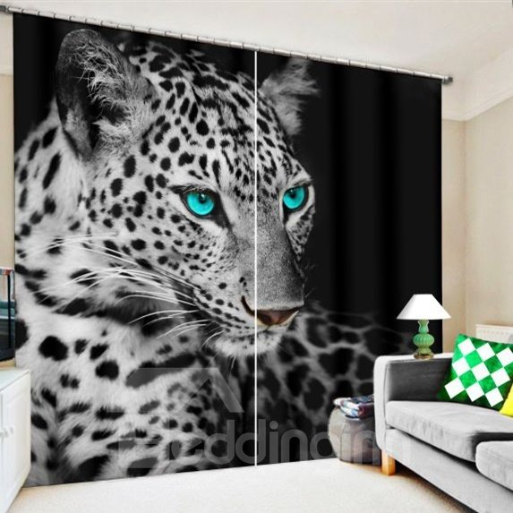 3d Wild Leopard Eyes Cheetah Printed Thick Polyester Pic