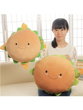 Special Delicious Hamburger Design Plush Throw Pillow