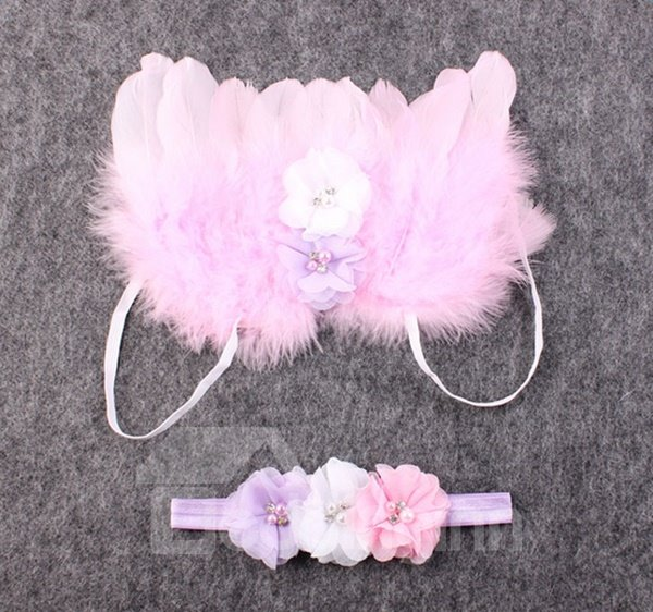 Lovely Feather Angle Wing Design Three Colors for Choose Baby Photo Prop