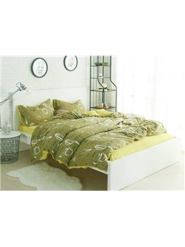 Concise Cooking Utensil Print 4-Piece Cotton Duvet Cover Sets