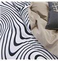 Unique Zebra Stripe Print 4-Piece Cotton Duvet Cover Sets