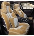 3D Stereo Winter Warm Plush Material Popular Universal Car Seat Cover