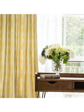 Contemporary Concise Geometric Printing Cotton & Linen Blending Custom Curtain