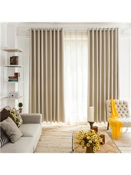 Contemporary Concise Solid Insulated Custom Curtains