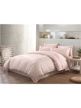 Creative Design Ribbon Embellishment 4-Piece Cotton Duvet Cover Sets