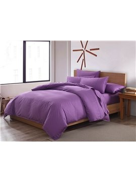 Noble Embroidery 100% Cotton 4-Piece Duvet Cover Sets