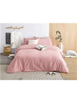 Urban Pink 4-Piece Cotton Duvet Cover Sets