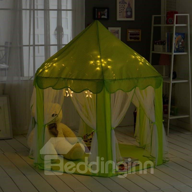 Lovely Mint Polka Dots Hex-angular Kids Indoor Tent