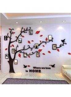 Creative Acrylic Tree Photo Frame Waterproof Three-dimensional Decorative 3D Wall Stickers