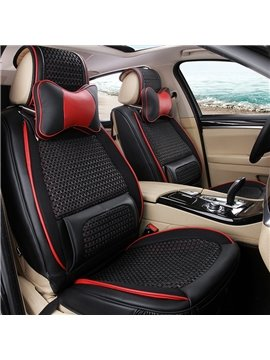 Durable PU Leather And Cool Ice Silk Material Fashion Universal Car Seat Cover