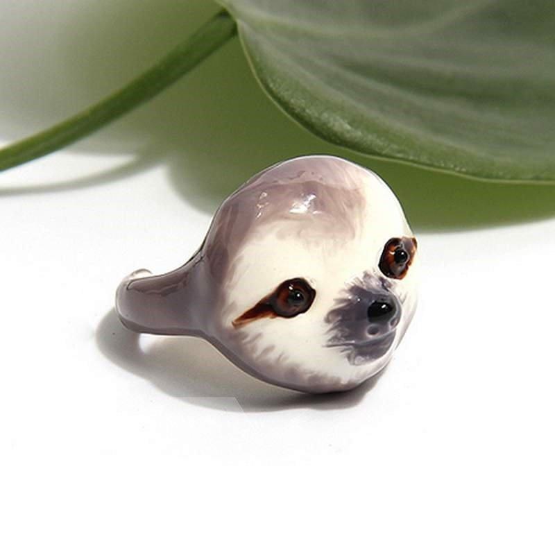Creative Cartoon Sloth Design 3 Pieces Enamel Rings Sets