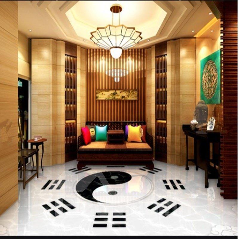 Fancy Unique Design Tai Chi Pattern Decorative Waterproof