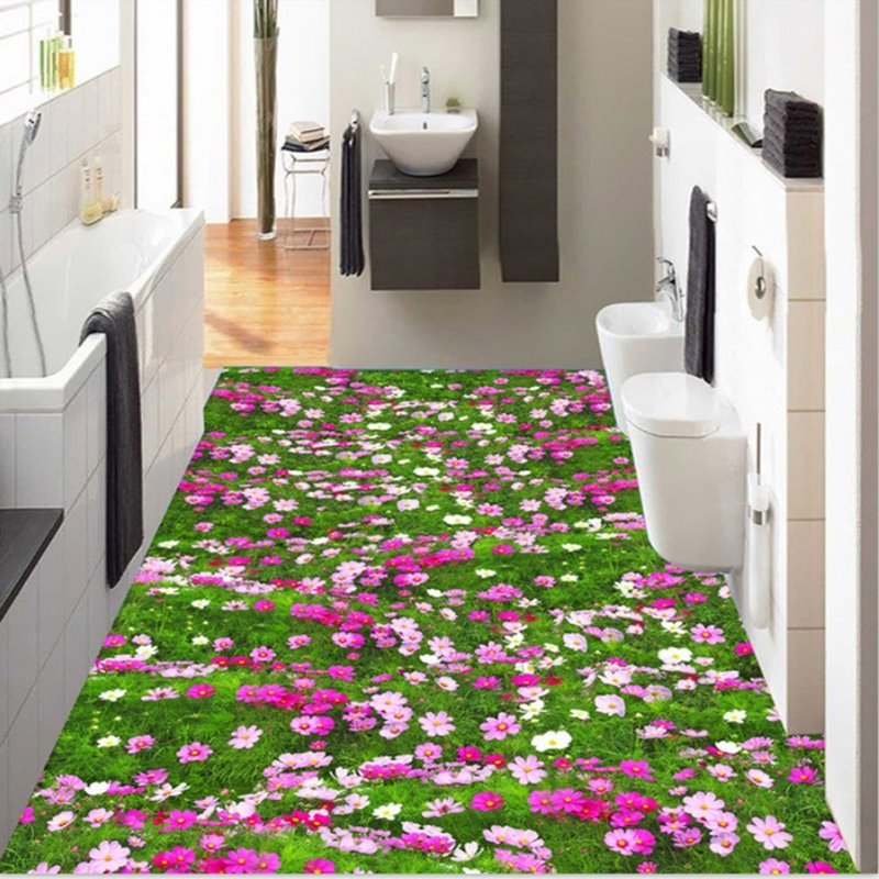gorgeous flowers field design home decorative splicing waterproof 3d
