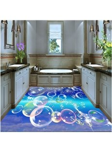 Colorful Bubbles Pattern Waterproof and Antiskid Decorative 3D Floor Murals