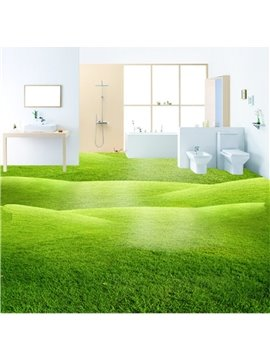 Green Three-dimensional Grass Land Design Decorative Waterproof 3D Floor Murals