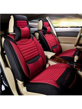 Cool Three-Dimensional Visual Effect Fashion Flax Material Universal Car Seat Cover