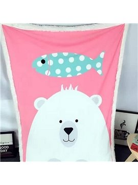 Lovely Bear Pattern Comfortable Baby Blanket
