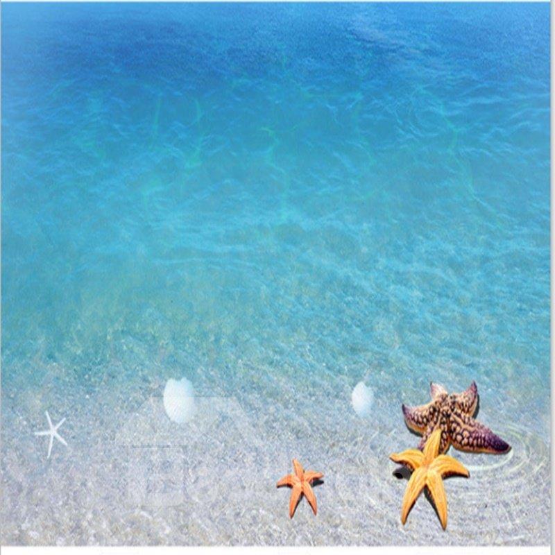 Limpid blue sea scenery home decorative waterproof for 3d waterproof wallpaper