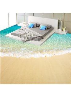 Fancy Modern Design Beach Scenery Pattern Home Decorative Waterproof 3D Floor Murals