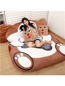 Cute Soft Dog Design Lazy Sofa Tatami Seat