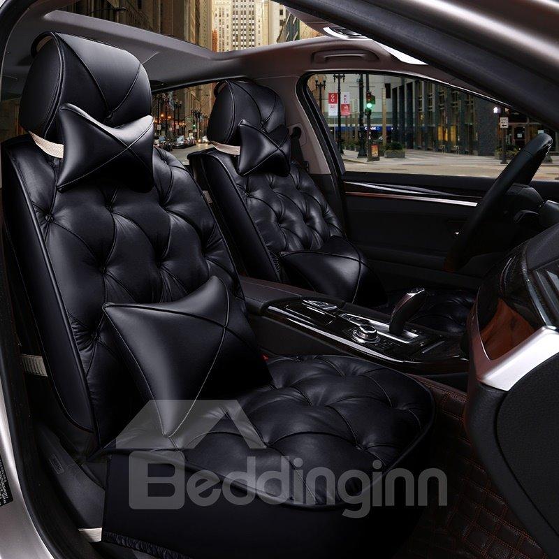 Cushions Diamond Pattern Design 5 Seats Universal Car Seat Covers Pic