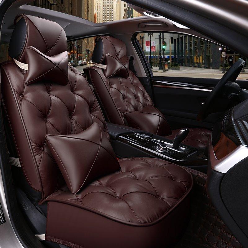 Luxurious Comfortable Cushions Diamond Pattern Design Seven Seats