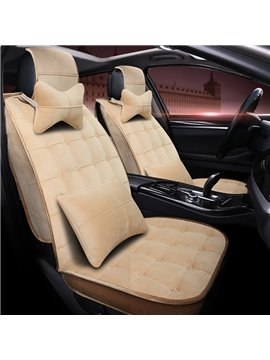 Beautiful Color Thick Good Elasticity Fashion Velvet Universal Car Seat Cover