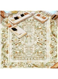Classic Design Dragon and Phoenix Pattern Waterproof Splicing 3D Floor Murals