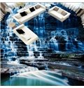 Three-dimensional Cool Waterfall in the Mountain Pattern Waterproof 3D Floor Murals