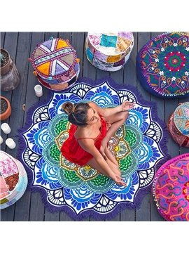 Vintage Indian Mandala Style Round BeachThrow Mat
