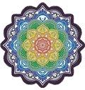 Vintage Indian Mandala Style Round BeachThrow Mat