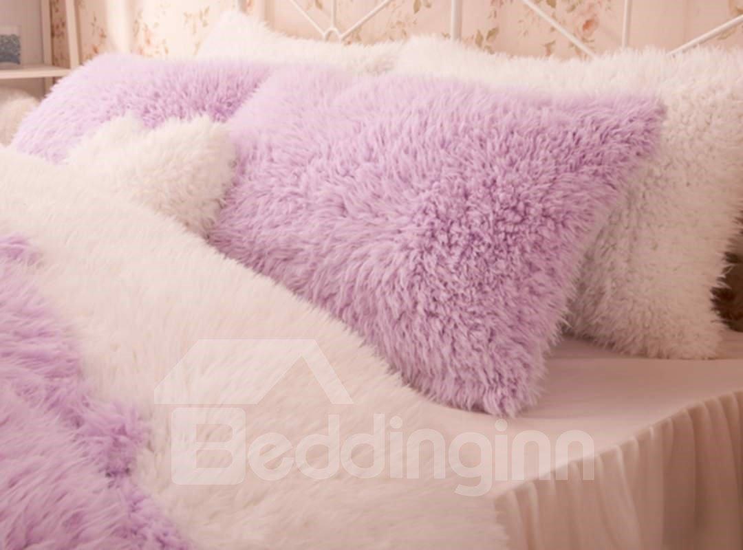 Pretty Soft Princess Style Purple Girls 4-Piece Bedding Set/Duvet Cover
