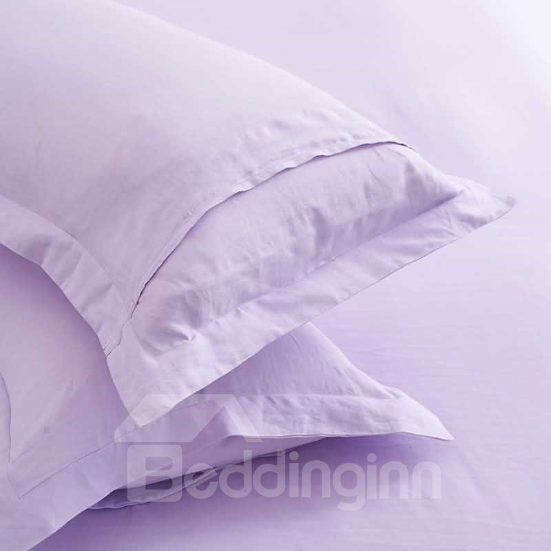 Sweet Light Purple Linen 4-Piece Duvet Cover Sets