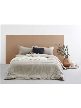 Luxurious Super Cozy Washed Linen 4-Piece Duvet Cover Sets