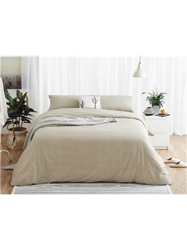Chic Stripe Print 4-Piece Cotton Duvet Cover Sets
