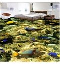 Exquisite Beautiful Fishes in the Corals Pattern Decorative Waterproof Splicing 3D Floor Murals